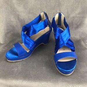 """Beacon / """"Alana"""" sandal - blue - size 9W"""